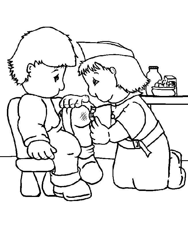 A Nurse Who Was Caring For Coloring Pages - Doctor Day ...