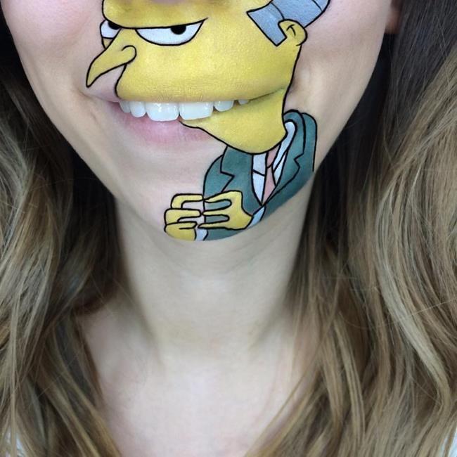 Makyaj Sanatçısı Laura Jenkinson Animasyon Karakterlerini Ağız Çevresine Resmediyor Sanatlı Bi Blog 47