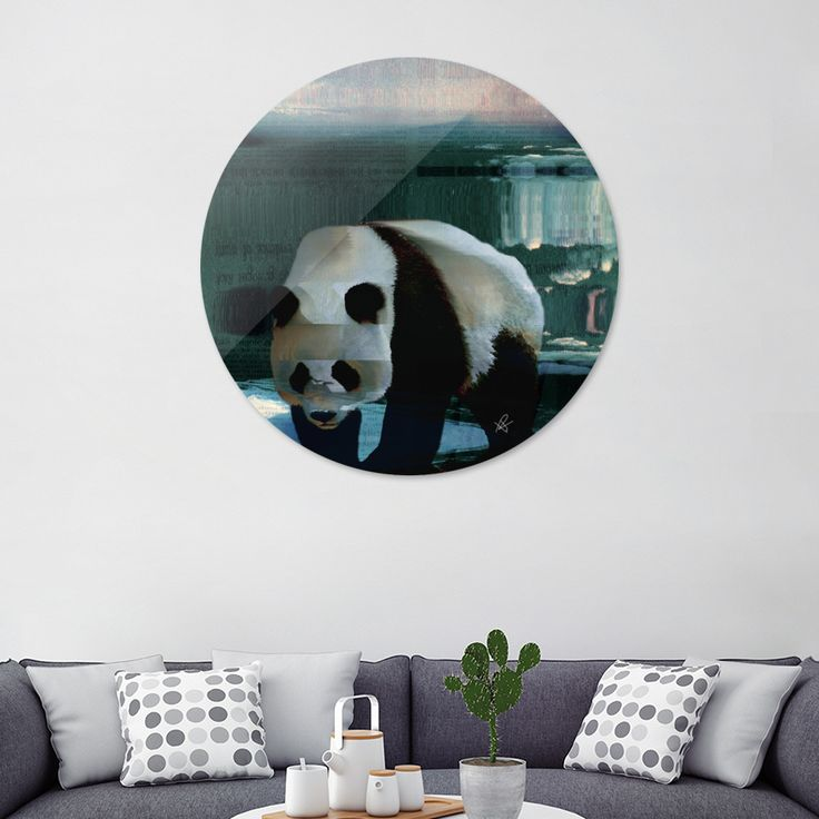 «Panda», Exclusive Edition Disk Print by Okti W. - From $59 - Curioos
