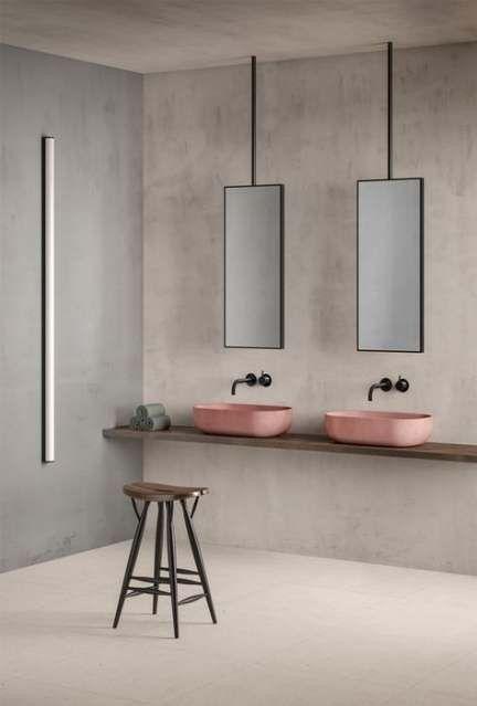 minimalistic concrete look bathroom interior design