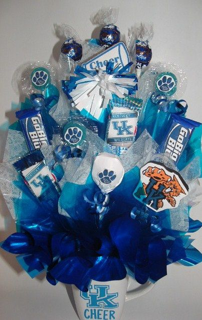 Uk cheer candy bouquet ina custom mug this is a specially