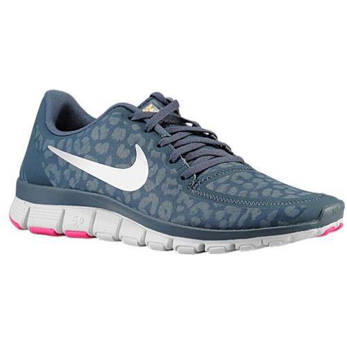 Nike Free - Women's - Running - Shoes - Dk Armory Blue/Laser Orange/Pink  Foil/Met Silver Someone buy me these!