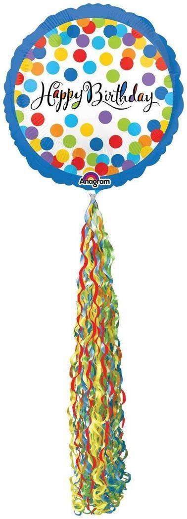 PartyBell.com - Happy Birthday Streamer AirWalker Foil #Balloon