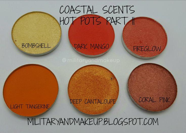 Coastal Scents Hot Pots  Swatches and Mini review militaryandmakeup.blogspot.com
