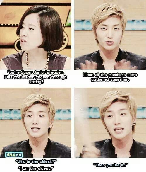 How Leeteuk became leader lol. He did a great job of it though