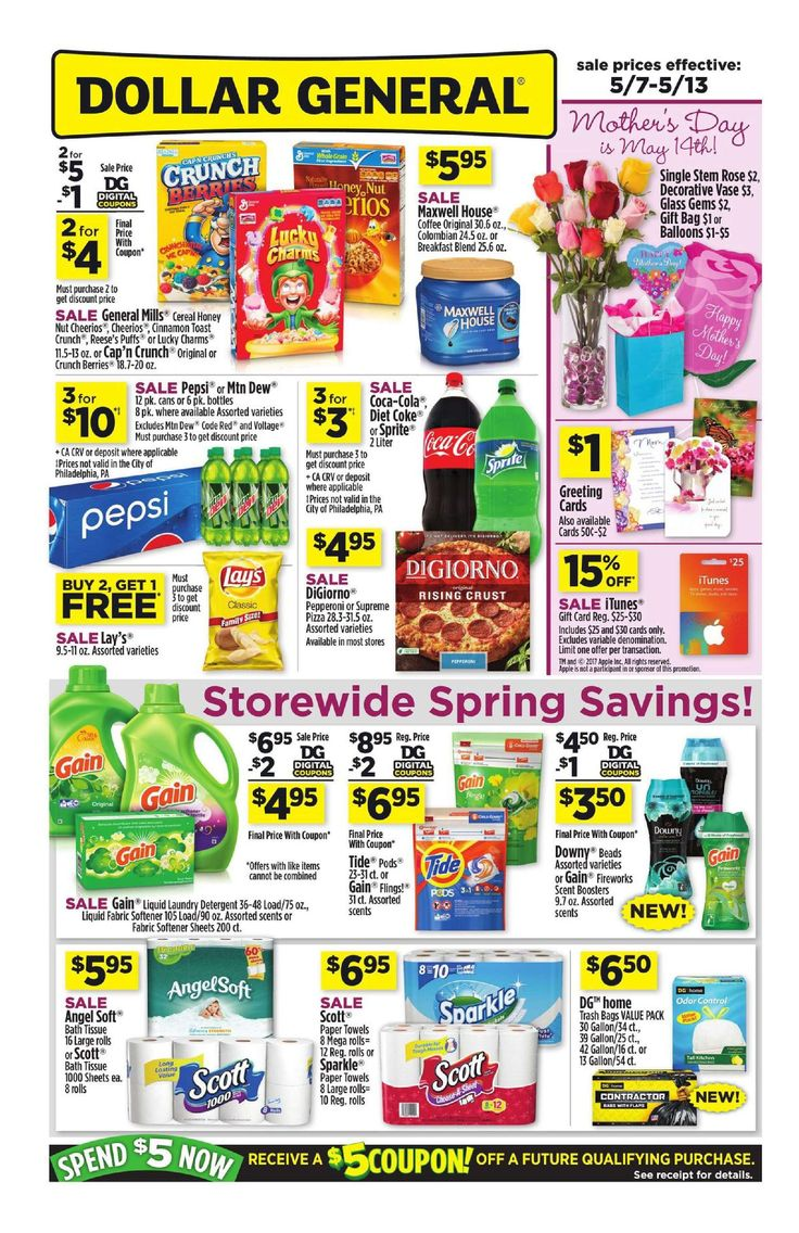 Scrapbook paper dollar general - Dollar General Weekly Ad May 7 13 2017 Http Www