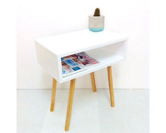 $223 Mid Century Modern Tables Midcentury Bedside by VintageHouseCoruna