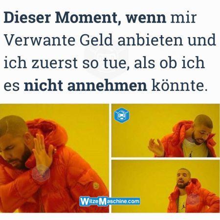 Dieser Moment wenn Witze - Geld anbieten - Drake Meme