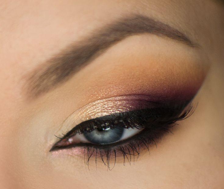 Makeup Geek Eyeshadows in Bitten, Cherry Cola, Frappe and Latte. Look by: Magdalena Mizura