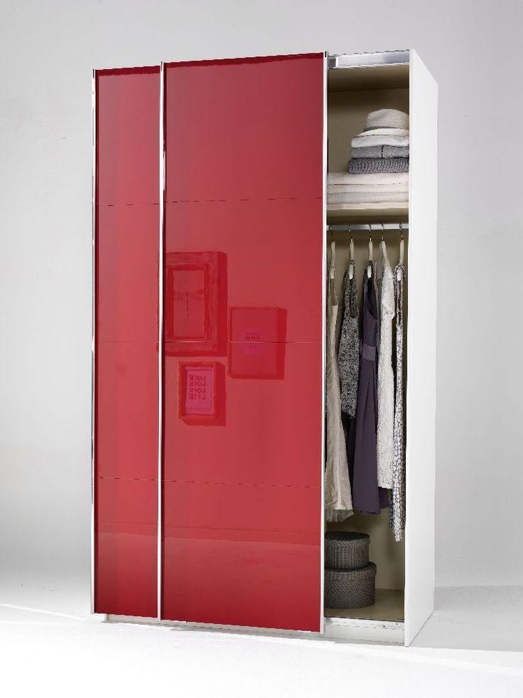 Welle Mobel 5 Plus Slider Level 2 Sliding Wardrobe   Ruby Red High Gloss