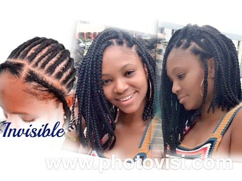Crochet Box Braids In A Bob : Box Braids Tutorial on Pinterest Box braids styling, Black braids ...