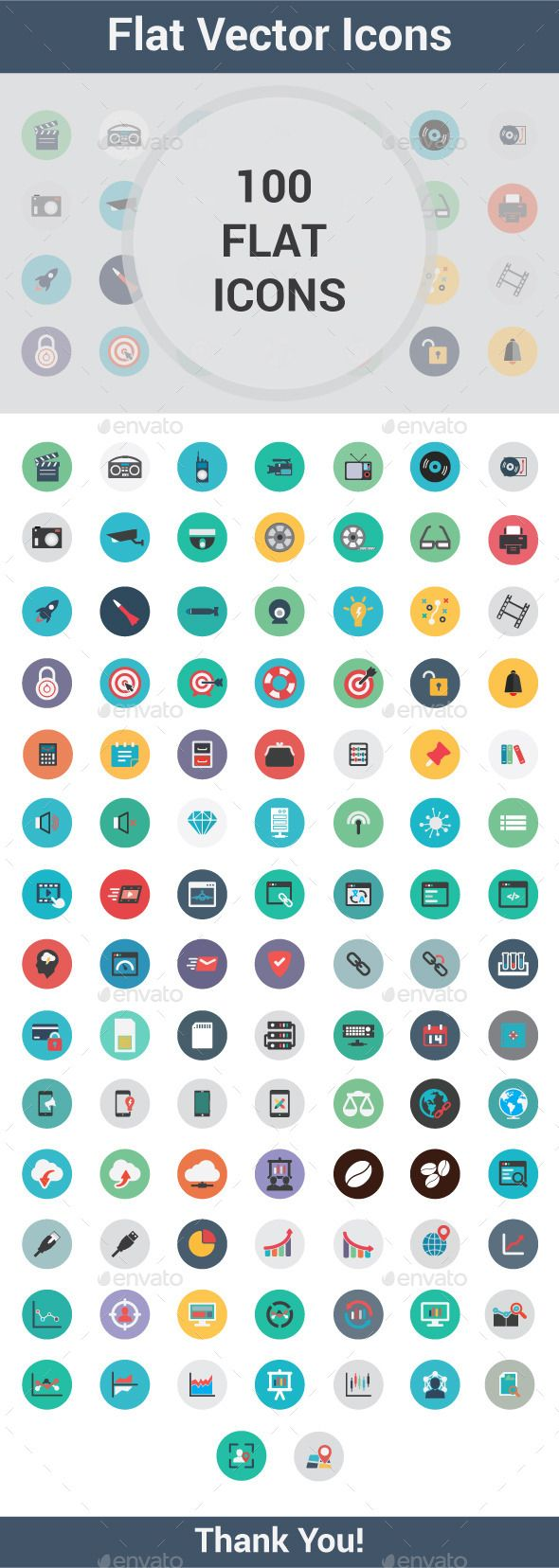 100 Flat Vector Icon #design Buy Now: http://graphicriver.net/item/100-flat-vector-icon/12845512?ref=ksioks