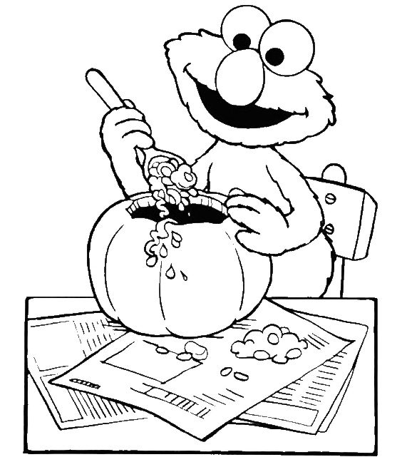 Elmo Eat Coloring Pages For Kids Printable Sesame Street
