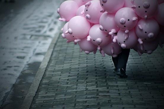 ~*~   pig balloons