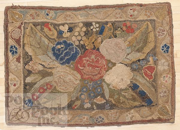 American Hooked Rug 19th C