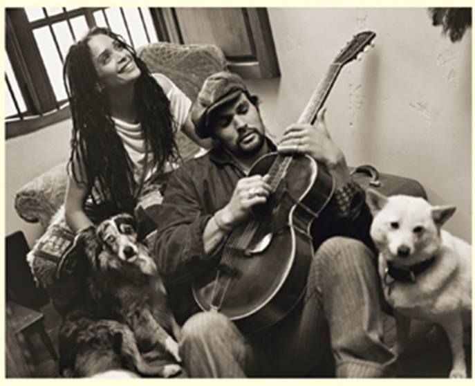 Lisa Bonet & Jason Momoa (beautiful couple - love the pic!). - Sweet Rice Tea