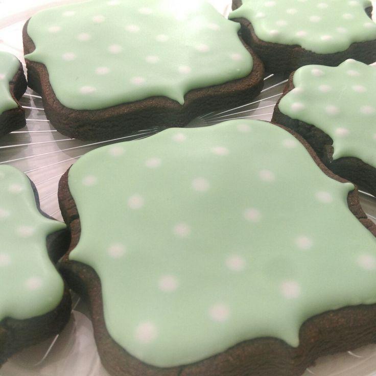 Polka Dot Chocolate Cookies @thelittlebakingco