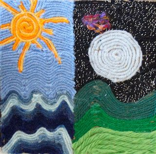 Crafts: Yarn Painting