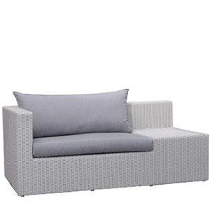"Lolly Sofa BY CASUALIFE D 36"" W 70"" H 28""  White Wash"