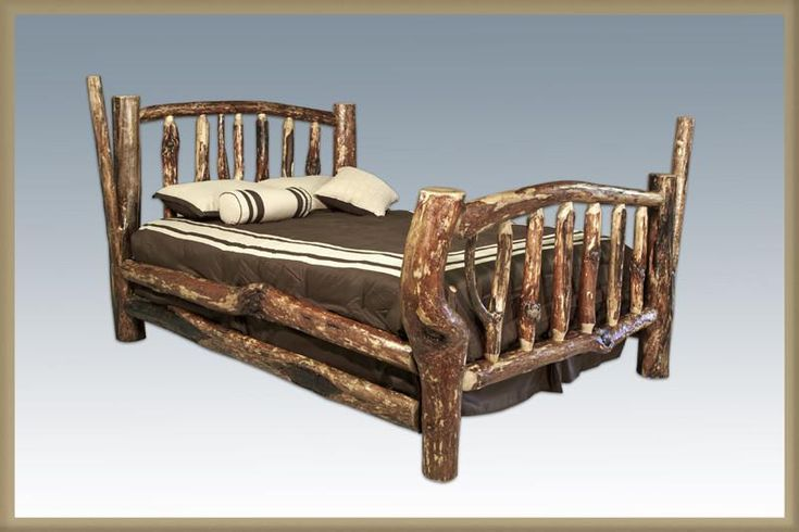 Montana Woodworks MWCCCAKB Character Bed - California King Bed Glacier Country Collection