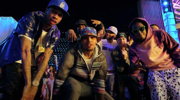 Last Kings cap worn by Tyga and Supreme hoodie worn by Lil Wayne in LOYAL by Chris Brown (2014) #lastkings #supreme