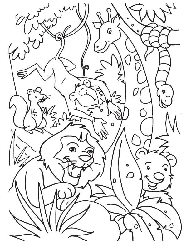 Jungle Coloring Pages Con Imagenes Dibujos Manualidades Pintar