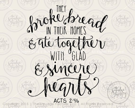 Bible Verse SVG Cut File , They Broke Bread, Silhouette, Cricut SVG Cutting File Calligraphy, Download • DIY Sign • Graphic Overlay