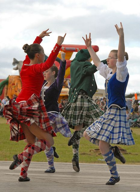 Love the highland dancing. The fingers and hands must be just right!
