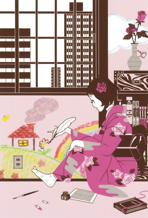 #Art #Illustration #Pink #JapaneseArt