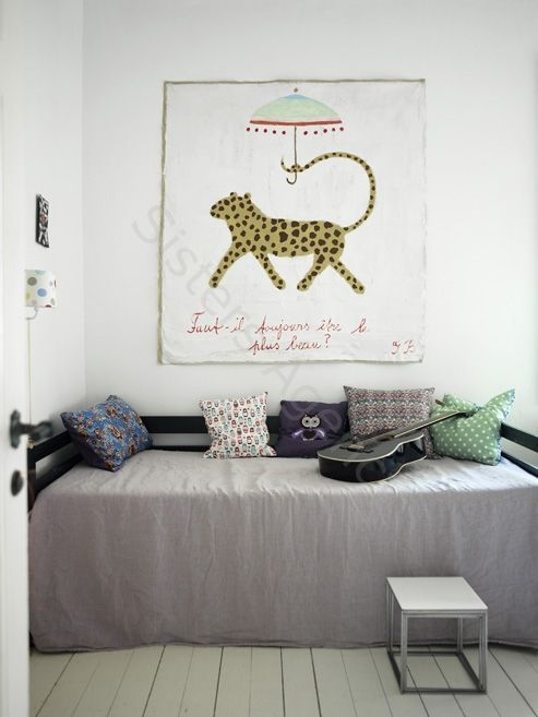 the girls' room -- photograph by birgitta wolfgang drejer from sisters agency.  (Blog pals anna h and Anknel and Burblets collaborate to style the interior of the A+B family's future home near the Ashdown Forest in East Sussex, England. )
