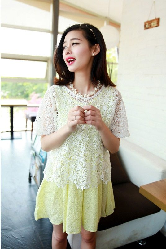 Terusan 2Pcs Import Cantik Kuning | Toko Baju Online