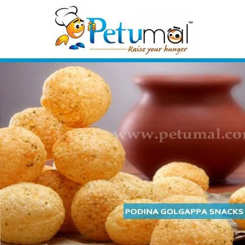 Golgappa is very popular chaat, or snack, encompasses some of chaat's best qualities—spicy, crunchy, saucy, satisfying—all in one explosive bite-size package. Only at petumal.com #chaat #snack #spicy #crunchy #saucy #satisfying
