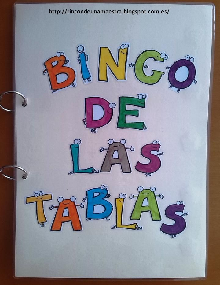 material educativo bingo tablas