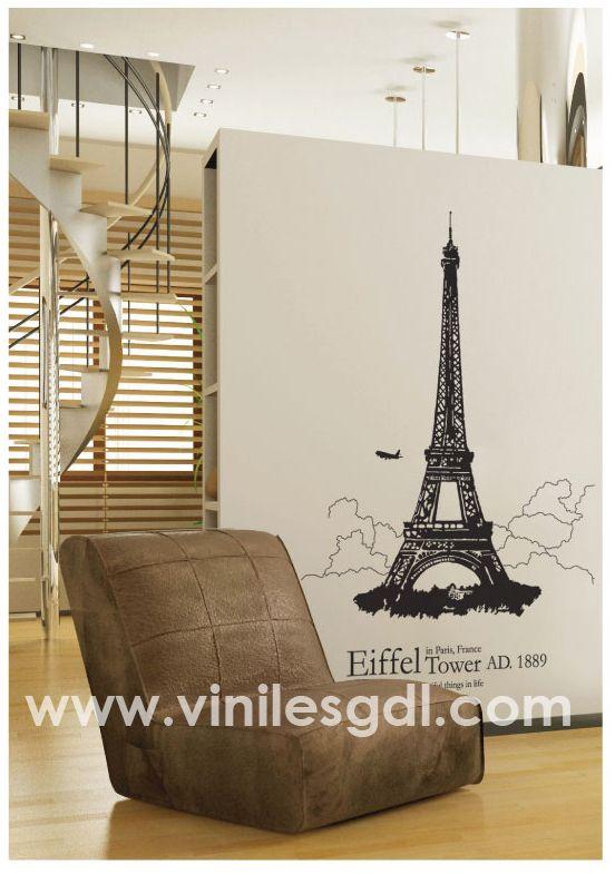 vinil decorativo romantico frnaces torre eiffel