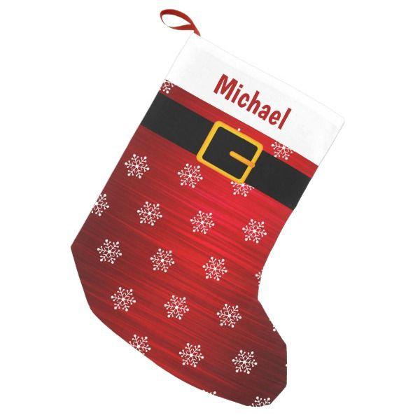 Red Santa Costume Christmas Stocking #stocking #christmas #sock #xmas
