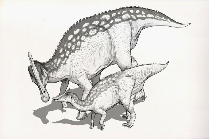 Draw Dinovember Day 12 Saurolophus, Raul Ramos