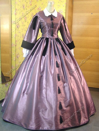 civil war victorian satin ball gown day dress 151 l sch ne kleidung kleider und puppen. Black Bedroom Furniture Sets. Home Design Ideas