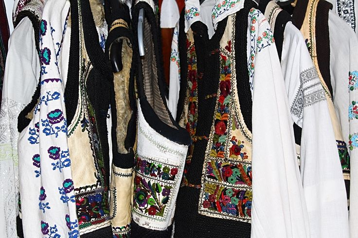 Romanian traditional blouses and vests