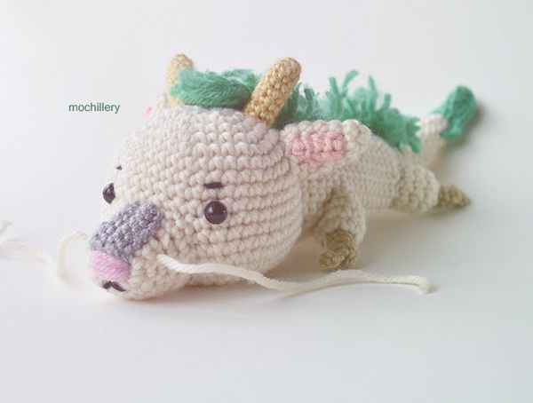 Crochet Haku from Spirited Away, chibi style by mochillery.deviantart.com on @deviantART