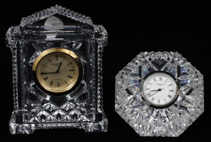 WATERFORD CRYSTAL CLOCKS TWO