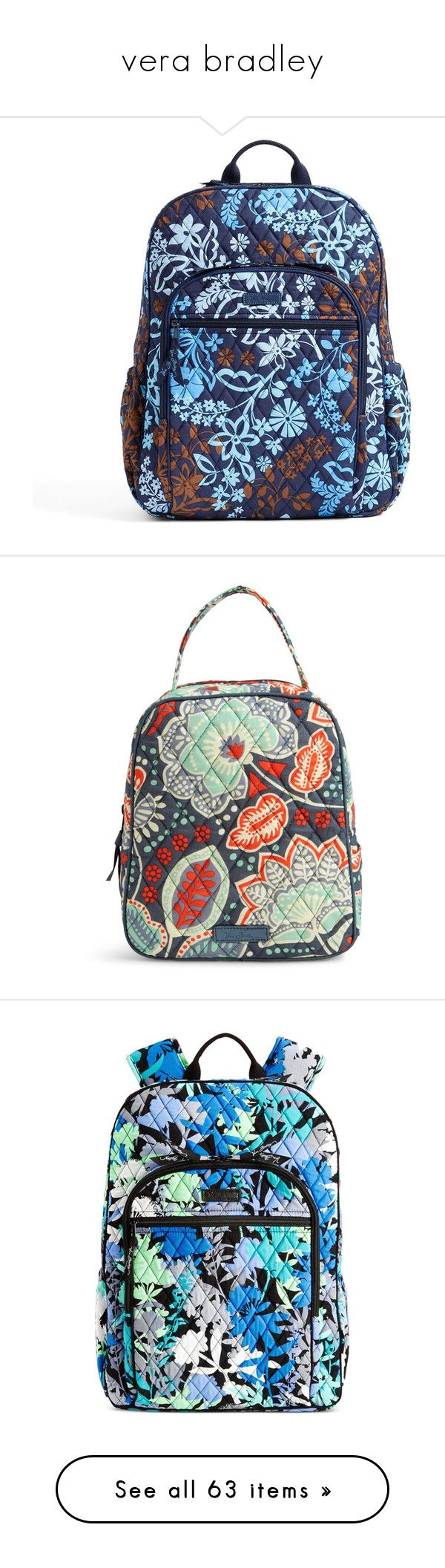 """""""vera bradley"""" by norah-jane ❤ liked on Polyvore featuring bags, backpacks, java floral, floral rucksack, mesh bag, vera bradley backpack, pocket backpack, trolley backpack, handbags and nomadic floral"""