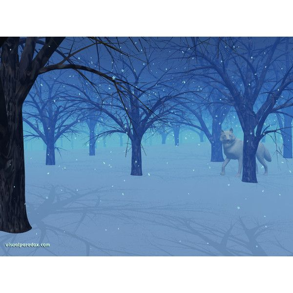 Visual Paradox Free 3D Wallpaper 'Winter Eve' 1024x768 size wallpaper ❤ liked on Polyvore
