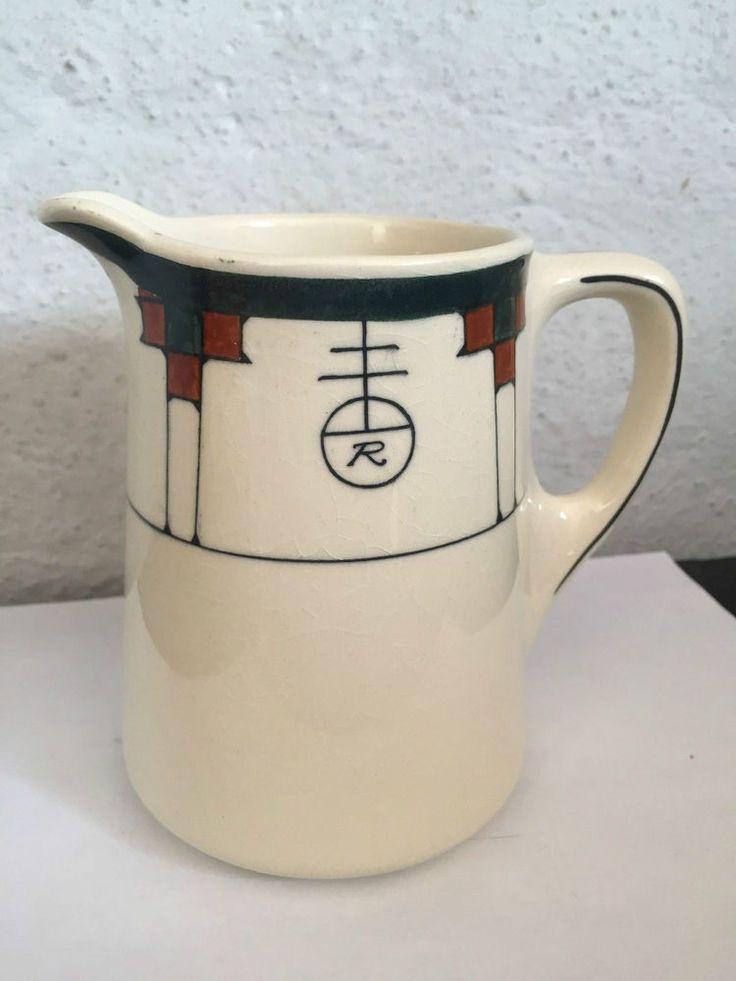 Rare Roycroft Inn China 1926 Pitcher Milk Pitcher Buffalo Pottery