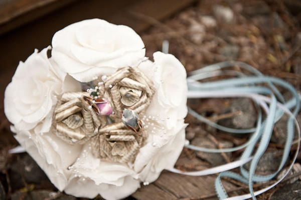 with burlap....Intimate Weddings - Small Wedding Venues and Locations - DIY Wedding Ideas - Small Wedding Blog - Part 30