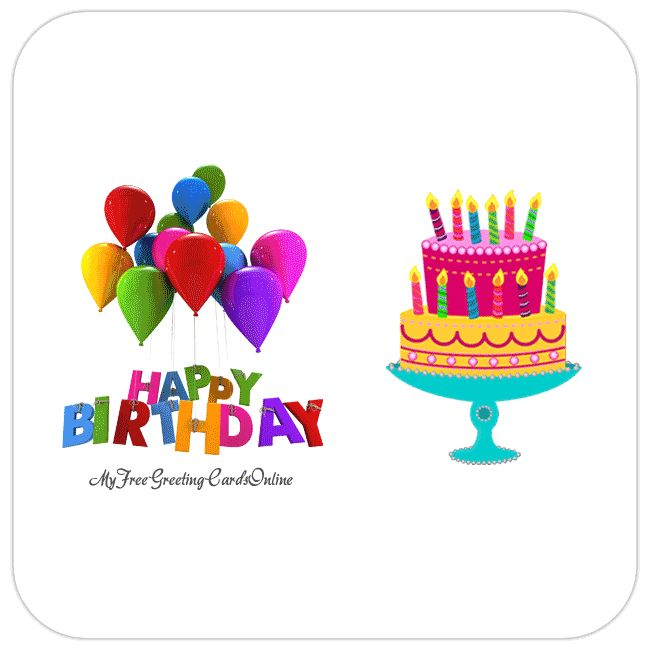 17 Best Images About Happy Birthday Gif Animation On Animated Birthday Card Drawing With Color
