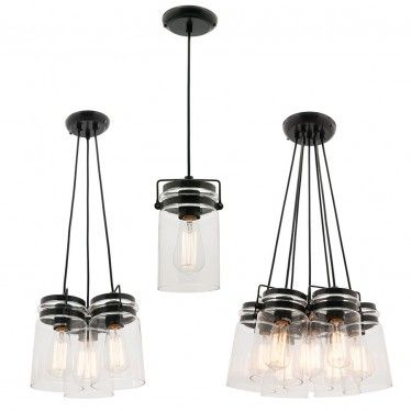 L2-1346 Clear Glass Pendant Light Range from