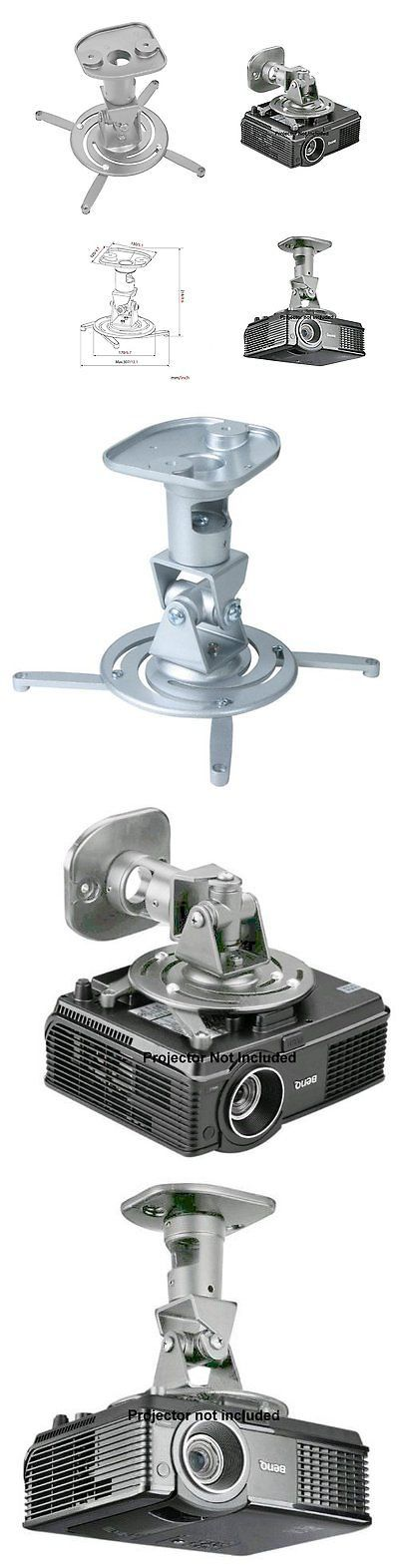 Projector Mounts and Stands: Amer Networks Universal Ceiling Projector Mount - Silver Amrp100s BUY IT NOW ONLY: $37.19
