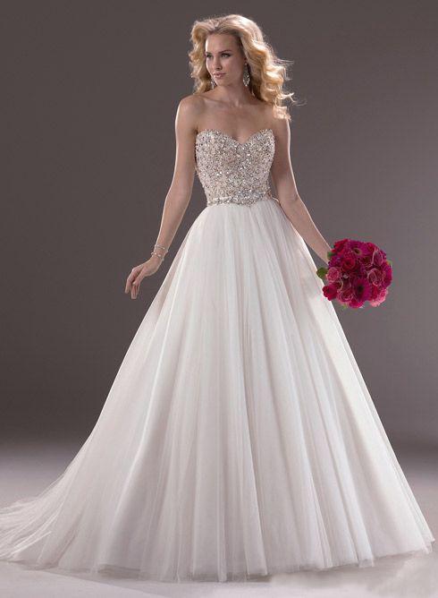Wedding Dresses, Spring Wedding Dresses, 2014 Beautiful Ball Gown Princess Sweetheart with Diamond Decoration Wedding Dress