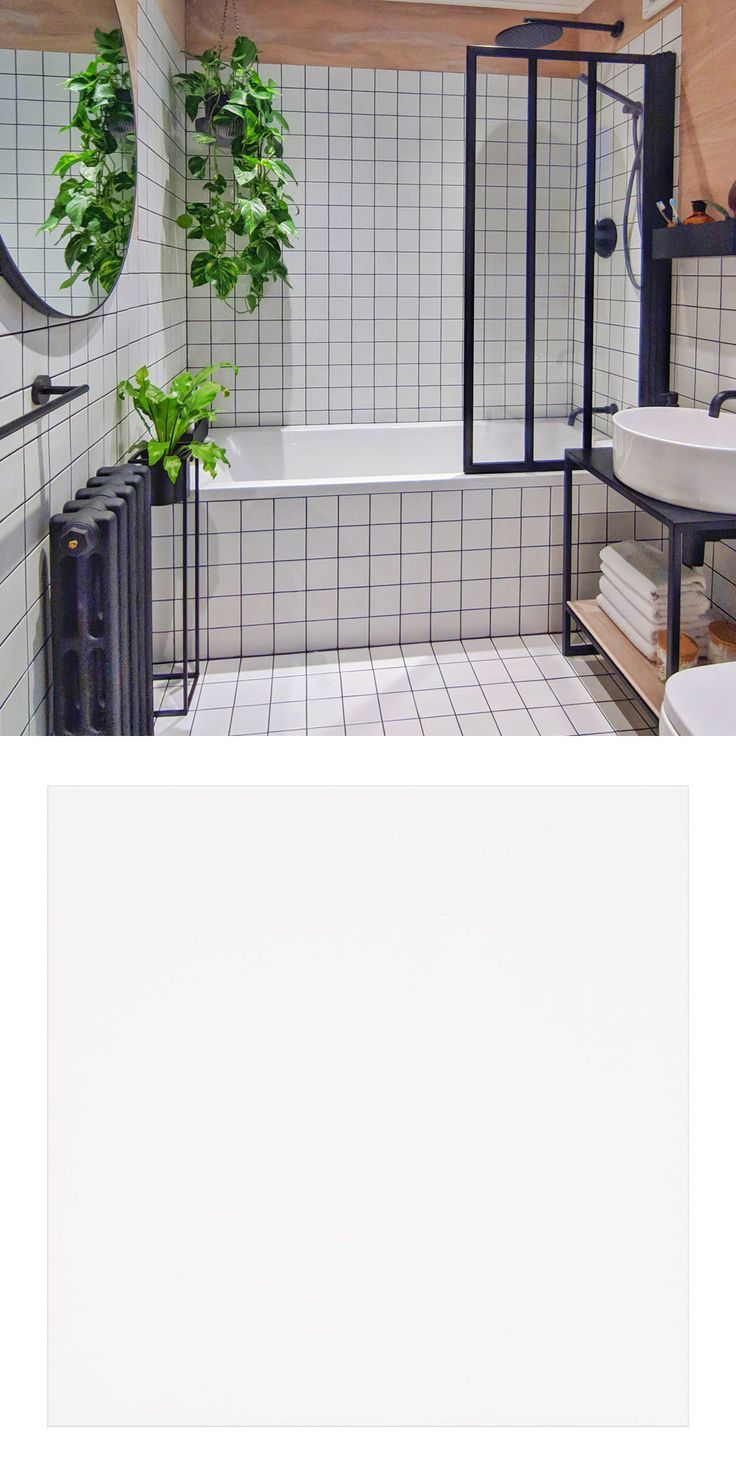 Chris Brightened Up His Bathroom With White Spellbound Tiles In 2020 Brighten Bathroom Bathroom White Square Tiles