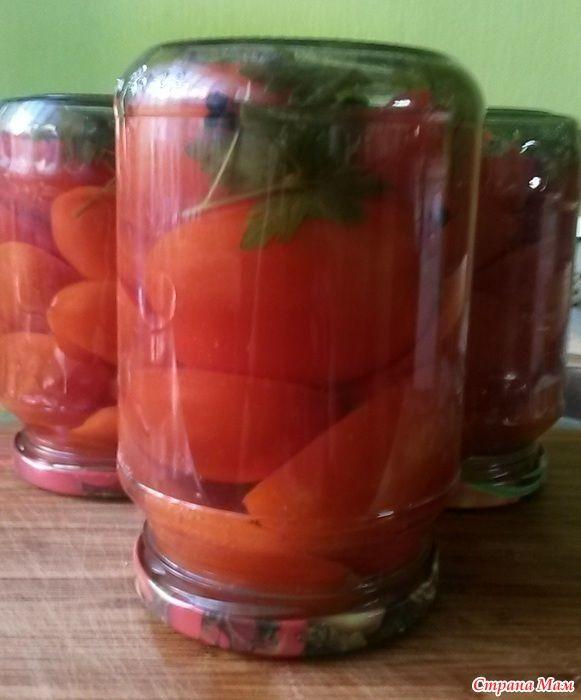 Вкусные помидоры по рецепту бабушки